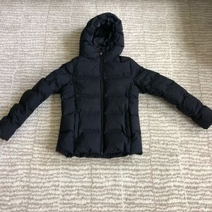 Uniqlo unisex down jacket with a hood